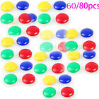 60 or 80pcs Round Magnetic Pin Button Notice Memo Message Note Whiteboard Fridge