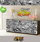 Tattoo Stickerbomb Multipurpose Wrap black and white all sizes avail high-res