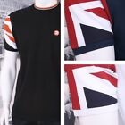 Trojan Records Limited Edition Tipped Crew Neck Union Flag Sleeve T-Shirt (3 Col