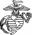 USMC united states marine corps vinyl decal sticker - army, navy, marines