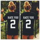 Girl Hate You 2 Tumblr Blogger Hipster T-Shirt Fashion Women Shirt Blouse Tops S
