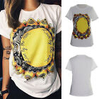 Hot Sale Personalized Gothic Street Tops Tee Women's Sunflower 3D Print T Shirt