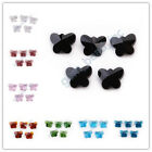 10/30pcs 14mm Faceted Glass Butterfly Beads Spacer DIY Jewelry Makings 19 Colors