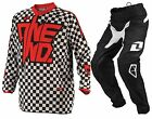 ONE INDUSTRIES YOUTH ATOM KIT COMBO BLACK/CHEX RED MX JUNIOR KIT
