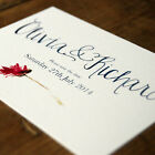 Hand Lettered Wedding Save the Date or Save the Evening - Flowers Floral Paint