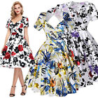 Jive Housewife Vintage Retro Style 50s Floral Swing Party Pinup Dress