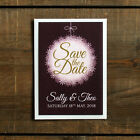 Winter Bauble Wedding Save the Date or Save the Evening - Christmas Snow Snowing