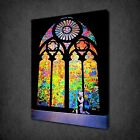 BANKSY STAINED GLASS PRAYER GRAFFITI CANVAS PRINT STREET ART PICTURE FREE UK P&P