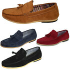 Designer Mens Suede Driving Shoes Loafers Tassle Slip On Moccasins Leather 1060