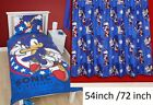"Sonic Hedgehog Kids Single Bed Reversible Duvet or Curtain 54""/  72"" / Cushion"