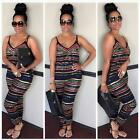 Women African Plus Size Jumpsuit Backless Playsuit Bodycon Romper Trousers Sexy