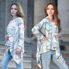 New Women Lady Girl Long Sleeve Knitted Printed Cardigan Sweater Outwear Coat
