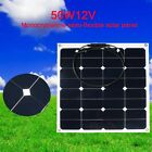 18V 50W Lightweight Car Roof Semi-Flexible Bendable Solar Panel Battery Off Grid