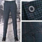 NEW Relco Mod 60's Retro Sta Press Trousers Tweed Multi Check
