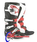 ALPINE STARS TECH 7 MOTOCROSS ENDURO BOOTS  BLACK / RED  - ADULT SIZES