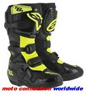 NEW 2016 ALPINESTARS BLACK/NEON TECH 6s YOUTH  KIDS MOTOCROSS BOOTS ALL SIZES