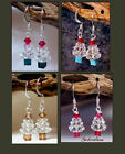 Swarovski Crystal AB Bead Ice Christmas Tree Earrings in Gift Box * Your choice