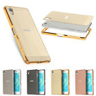For Sony Xperia X Performance Mirror Back Cover With Metal Aluminum Frame Case