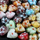 Wholesale Lampwork Glass Floral Flower Heart LOVE Loose Beads Jewelry Findings