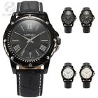 Official AgentX Roman Dial Date Leather Analog Men Sport Wrist Watch + Free Box