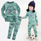 "Vaenait Baby Toddler Kid Boy Clothes Long Sleepwear Pajama Set ""Mini Car"" 12M-7T"