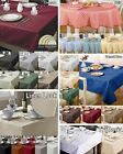 Tablecloths Rectangular Square & Circular Dining Table Cloth Covers Damask Check