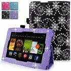 For Amazon Kindle Fire HD 7 Inch 2012 Diamond Bling Pu Leather Stand Case Cover