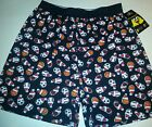 Mens Fun Boxers Brand Black Christmas Sports Sleep Boxers Size Large