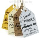 Personalised Warmest Thanks for Joining Us Little Arrow (P) Wedding Favour Tags