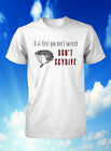 skydiving t-shirt sky diving tshirt if at first diver t shirt men guys large xl