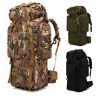 Sport 80L Military Tactical Waterproof Camping Hiking Backpack Shoulder Bag Hot