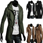 Mens Jacket Fashion Warm Winter Casual Coat Overcoat Parka Outwear Military Zip
