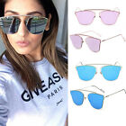 New Women Flat Cat Eye Rosegold Mirrored Lenses Outdoor Vintage Sunglasses