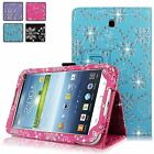 For Samsung Galaxy Tab 3 7 inch P3200 Diamond Bling Pu Leather Stand Case Cover