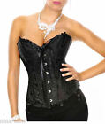 Corset BUSTIER Black Brocade Sizes S to XL STUNNING for evening