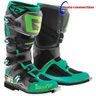 NEW GAERNE SG12 MOTOCROSS  MX BOOTS GREY TEAL GREEN ALL SIZES