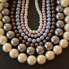 Genuine Beautiful Round Glass Pearls   Sizes 6mm to 16mm   Many Colours