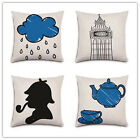 British Style Home Decorative Sofa Bed Car Pillow Throw Painting Pillow Cushion