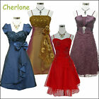Cherlone Cocktailkleid Damenkleider Ballkleid Abendkleid Brautjungfer Kleid