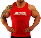 RED STERIOD DIANABOL BODYBUILDING VEST WORKOUT GYM CLOTHING K-122