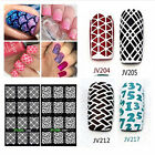 12Tips/Sheet Nail Vinyls Nail Art Manicure Stencil Stickers Stamp NEW Fashion