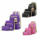 Girls' Student School Bag Backpack Travel Canvas Handbag Cartoons Style Rucksack