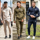 Mens Gym King Full Tracksuit Set Fleece Jersey Hooded Skinny Slim Joggers Pants