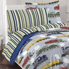 VINTAGE TRAINS BEDDING - Locomotive Railroad Steam Engine Comforter Sheets Sham