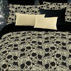 nEw FLOWER SKULLS COMFORTER SET - Floral Roses Blanket Bedskirt Sham Bedding