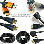 Full HD, 3D & 4K Ready HDMI Cable/Leads - Right Angled & Straight Blu Ray Video