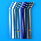 3 pcs Colorful Pyrex Glass Drinking Straw Wedding Birthday Party Diameter 8mm