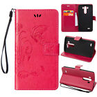 Pattern Stand Folio Leather Magnetic Flip Wallet Card Case Cover For LG Phones
