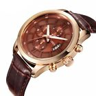 CURREN Fashion Men Sport Watch Leather Quartz Day Date Analog Wristwatches