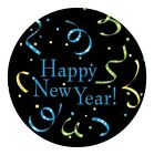 """New Years Eve Streamers Party Tableware Lunch 9"""" or Dessert Cake 7"""" Plates 8 ct"""